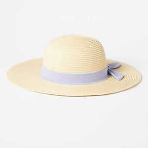 LOFT Striped Bow Straw Floppy Hat